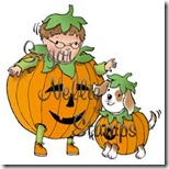 Snealy-Peeks-two-little-pumpkins-Mary-Hall