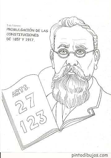 Mexican constitution coloring pages