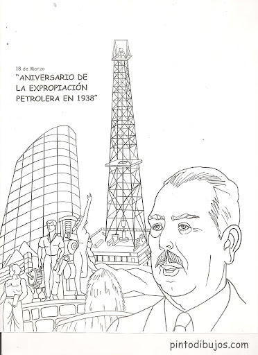Mexico's oil expropriation coloring pages