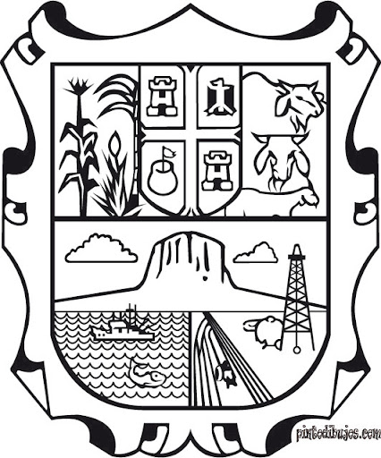 Tamaulipas Coat of arms, coloring pages