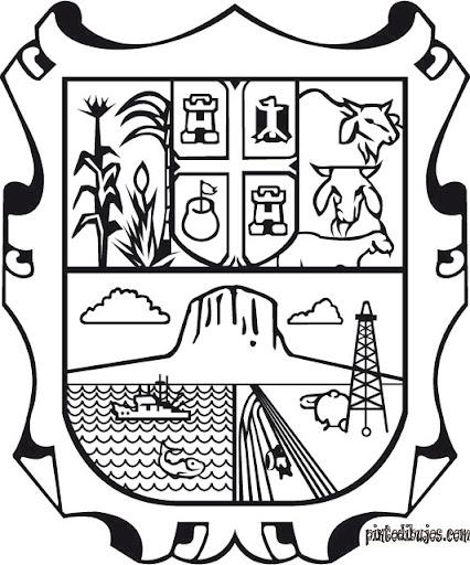 Escudo de Tamaulipas para colorear