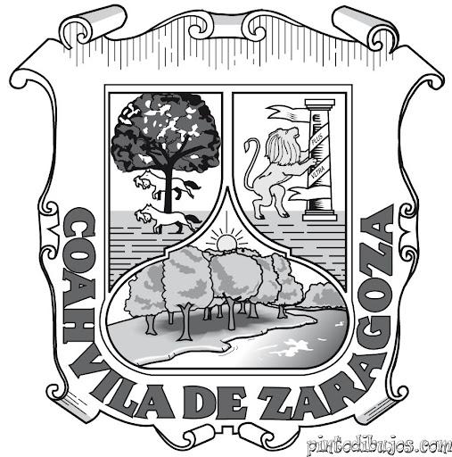 Escudo del Estado de Coahuila para colorear