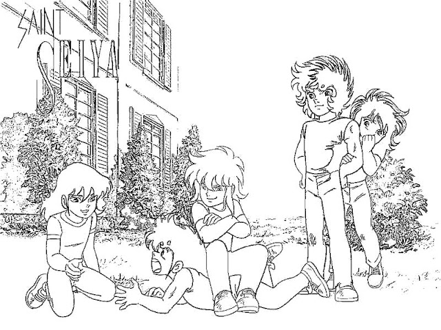 Saint Seiya COLORING PAGES