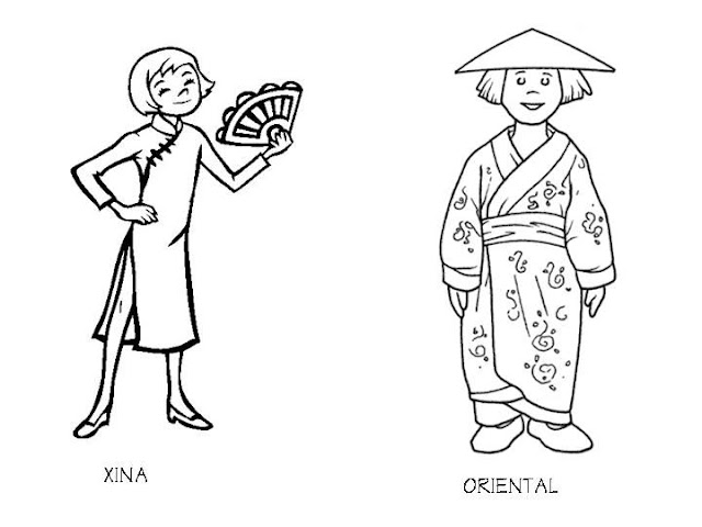 Outfit of China coloring pages