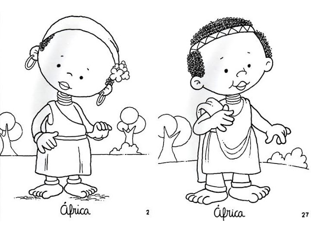 African Clothing, free coloring pages