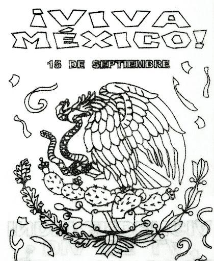 Escudo Mexicano -  Viva México para colorear