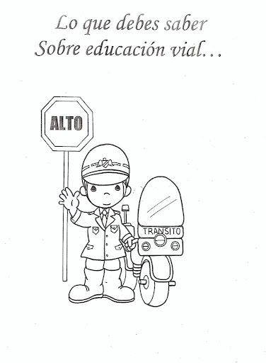 Transit official - free coloring pages