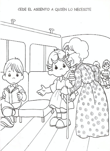 Respect for the elderly - free coloring pages