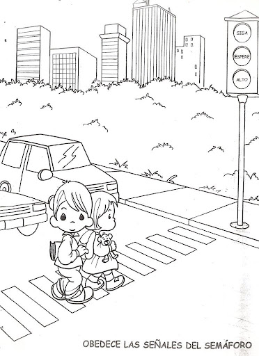 traffic lights, free coloring pages