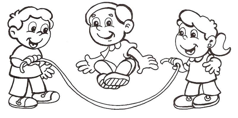 Pinto Dibujos: Niños jugando a la cuerda para colorear– Educación ...