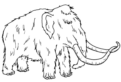 Mamut coloring pages