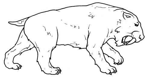 sabre tooth tiger coloring pages