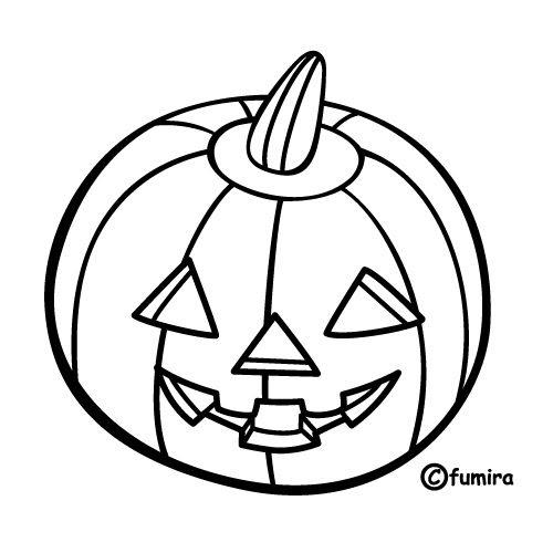 Pinto dibujos calabaza de halloween para colorear - Calabazas halloween para colorear ...