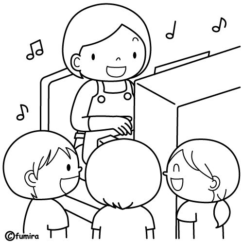 Music Class free coloring pages