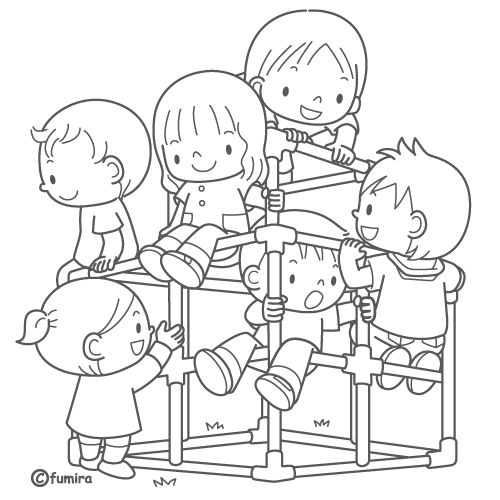 Playground, free coloring pages Coloring Pages