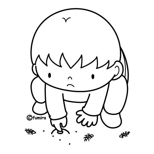 Dibujos para colorear de niños llorando - Imagui