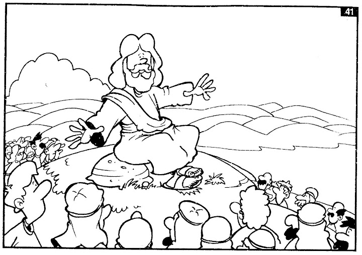 jesus preaching the gospel - free coloring pages | Coloring Pages