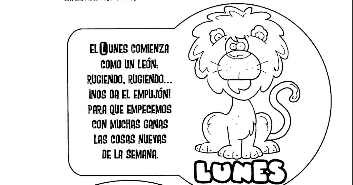 Days of the week in spanish - free coloring pages | Free World Pics