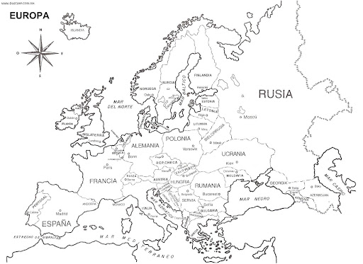 coloring pages of europe - photo#13