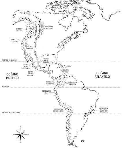 Mapa de montañas de América para colorear - Dibujos Disney