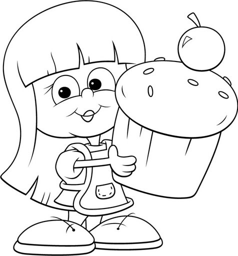 bakery coloring pages - photo#36