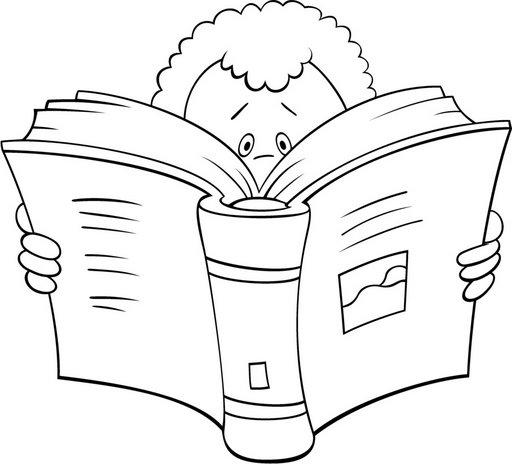 Pinto Dibujos: Niños leyendo para colorear