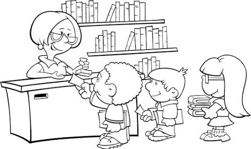 Toma Un Baño Caillou:Dibujo Para Colorear De La Biblioteca