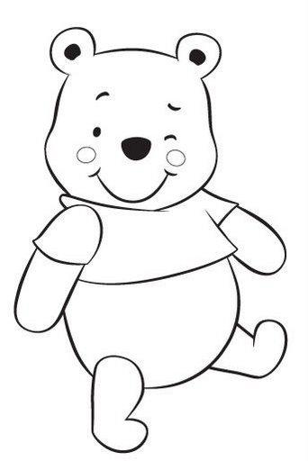 Pinto Dibujos: Baby winnie Pooh para colorear