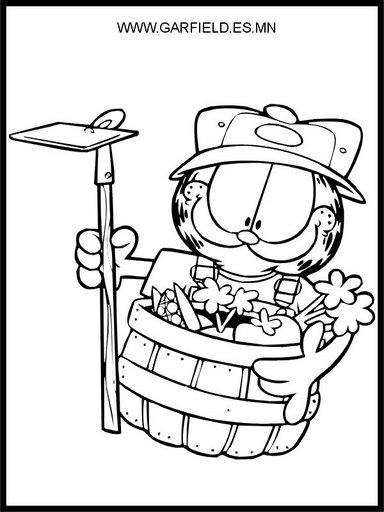 Garfield jardinero