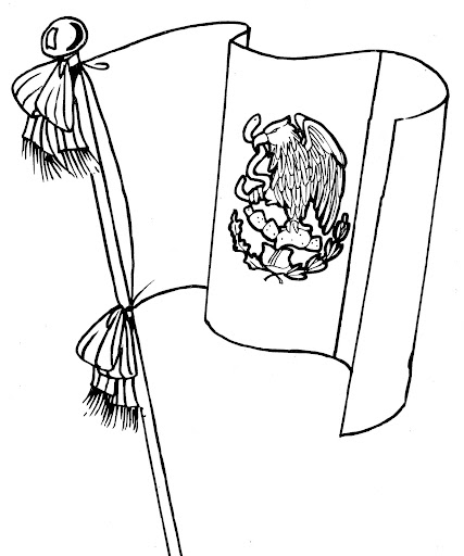 Flag of mexico free coloring pages coloring pages for Mexican flag coloring page