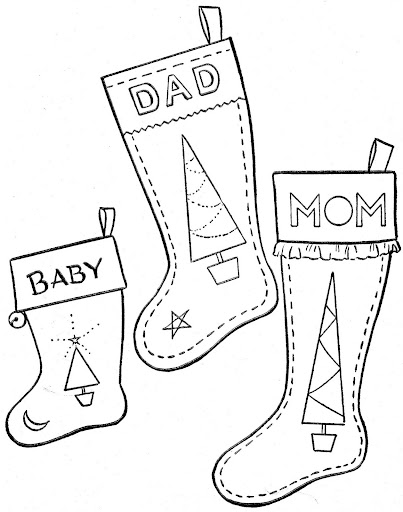 Christmas boots coloring pages