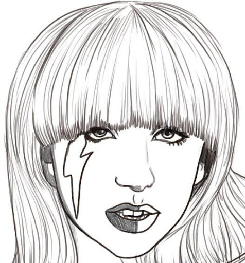 Lady Gaga para pintar y colorear