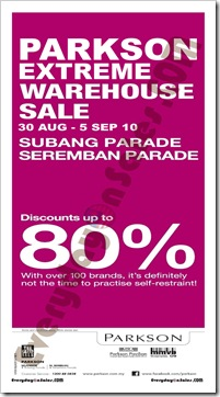 Parkson-extreme-warehouse-sale