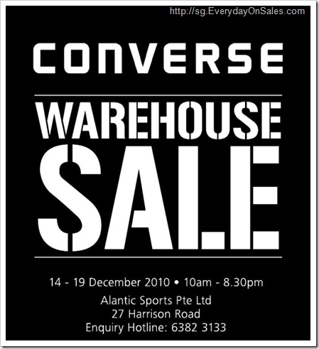 Everyday On Sales @ Singapore: Converse Warehouse Sale 2010
