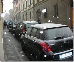 cominica a nevicare!