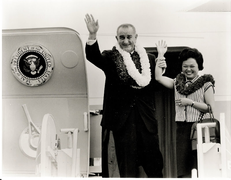 Lyndon B. Johnson and Patsy Mink