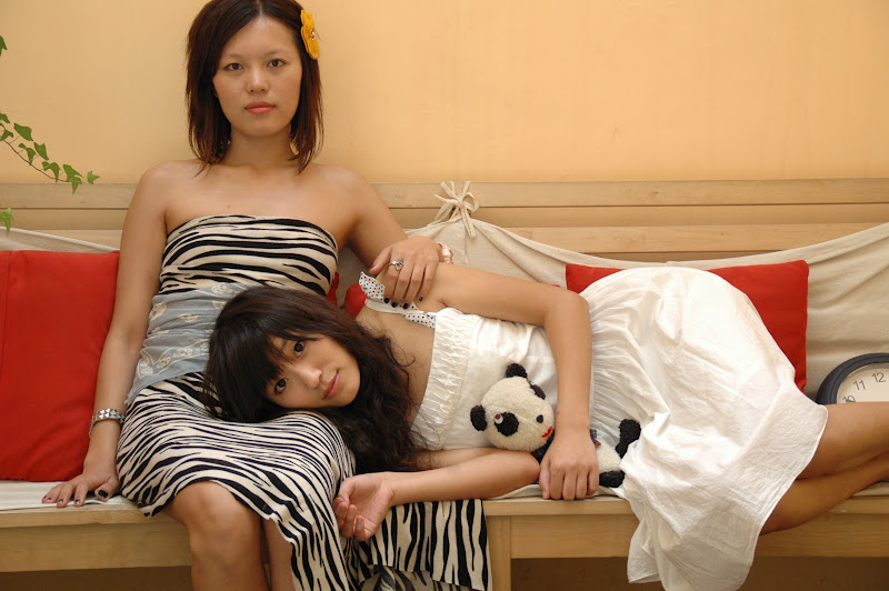 Chun Sue (left) and Taki Zhang in The Panda Candy
