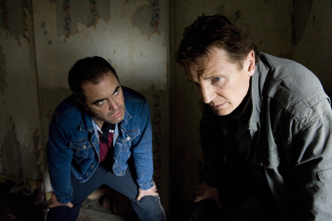 James Nesbitt as Joe Griffen and Liam Neeson as Alistair Little in FIVE MINUTES OF HEAVEN, Photo © Reconciliation Limited 2009
