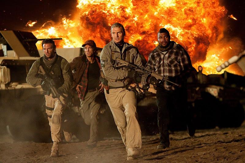 Bradley Cooper, Sharlto Copley, Liam Neeson and Quinton 'Rampage' Jackson in The A-Team.