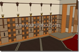 3D Modeling Perencanaan4 - Arsiteka (Ruang Sidang Paripurna DPRD Kabupaten Malang)