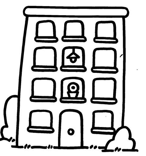 Figuras de edificios para colorear - Imagui