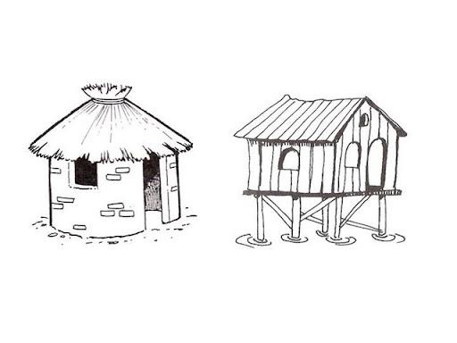 Dibujos de viviendas dibujos de tipos de viviendas - Imagenes infantiles de casas para colorear ...