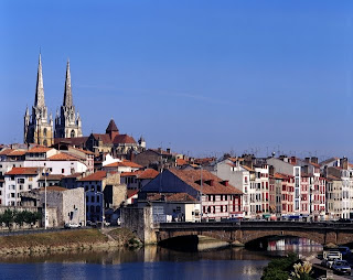 View of Bayonne and its cathedral