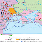 Карта русско-турецких войн
