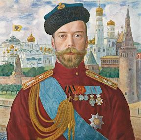 Портрет императора Николая ІІ. Худ. Б. Кустодиев