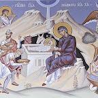 Рождество Христово. Фрагмент росписи Никольского собора в Вене