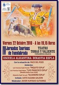 IV JORNADAS TAURINAS DE FUENLABRADA manola octubre 2010