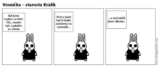 Komiks Vesnička - Starosta Králík