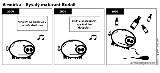 Komiks Vesnička - Bývalý maturant Rudolf