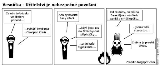 Komiks Vesnička - Učitelství je nebezpečné povolání